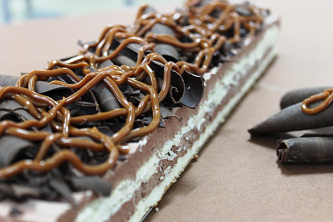Banda de Milhoja de chocolate