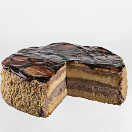 Gâteau au chocolat et biscuit.