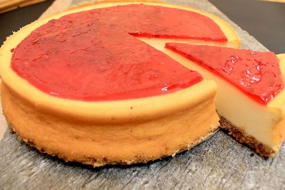 Tarta Cheese Cake con frambuesa