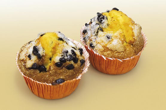 Muffin de naranja y chocolate