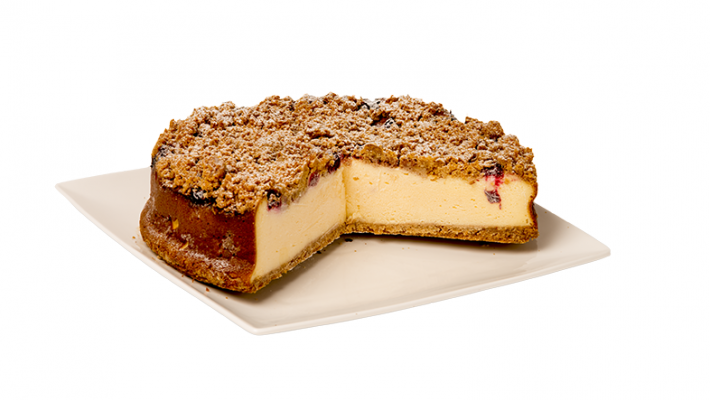 CHEESECAKE CRUMBLE DE CEREZAS