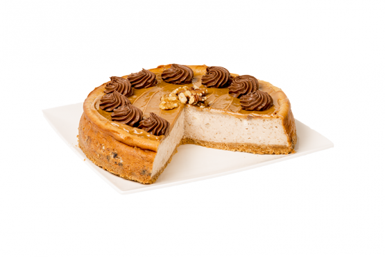 CHEESECAKE NUECES Y DULCE DE LECHE
